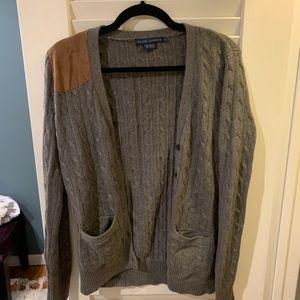 Ralph Lauren Blue Label Gray Cable Knit Cardigan